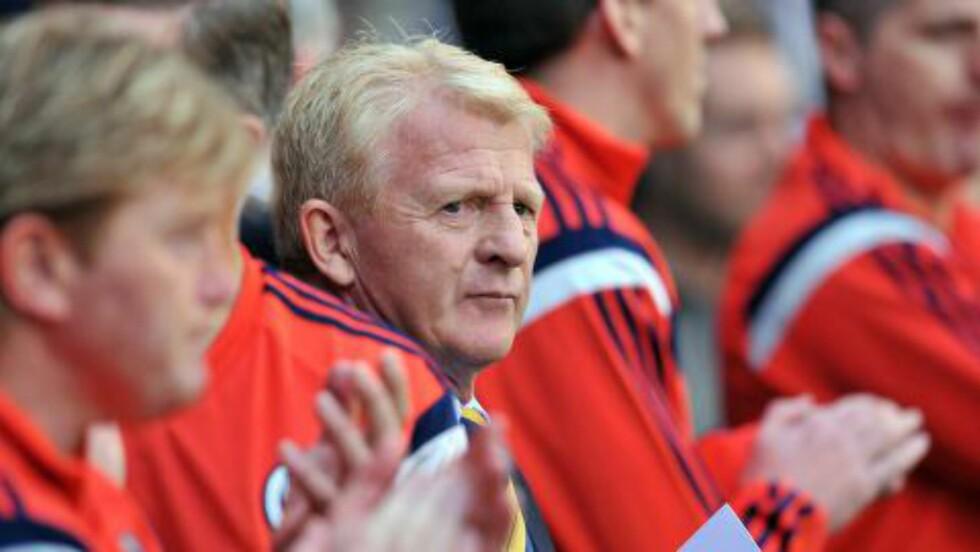 SLO TILBAKE: Gordon Strachan beskrev det som sin verste fotballopplevelse noensinne da han tapte 5-0 i debuten som Celtic-manager. Han er nå Skottland-manager. Foto: AFP/ GLYN KIRK / NTB scanpix