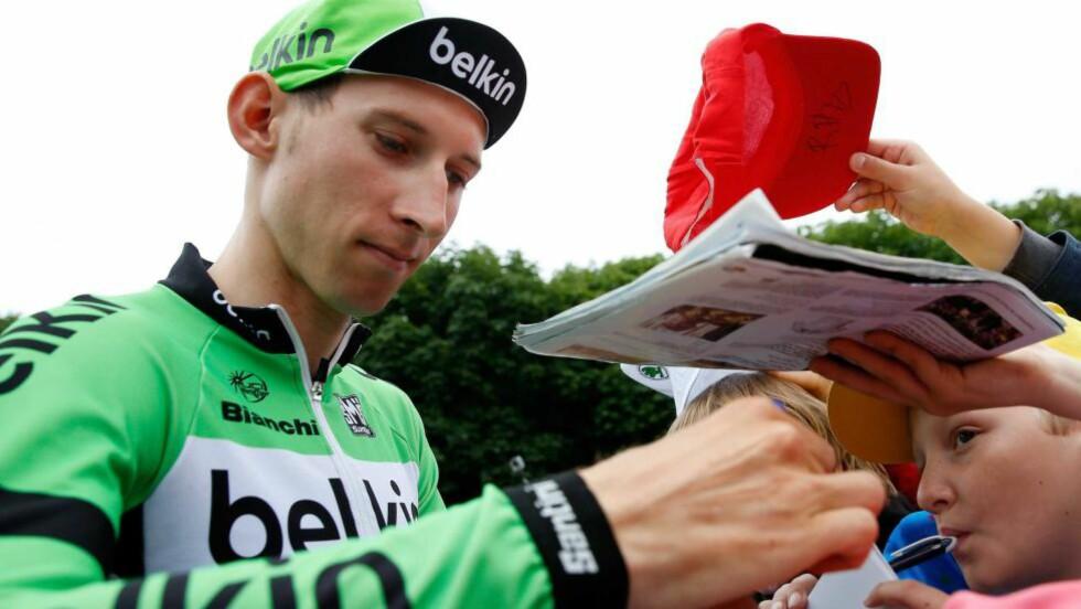 ETTERTRAKTET: Nederlandske Telegraaf mener de vet hvor Bauke Mollema sykler neste sesong. FOTO: EPA/BAS CZERWINSKI