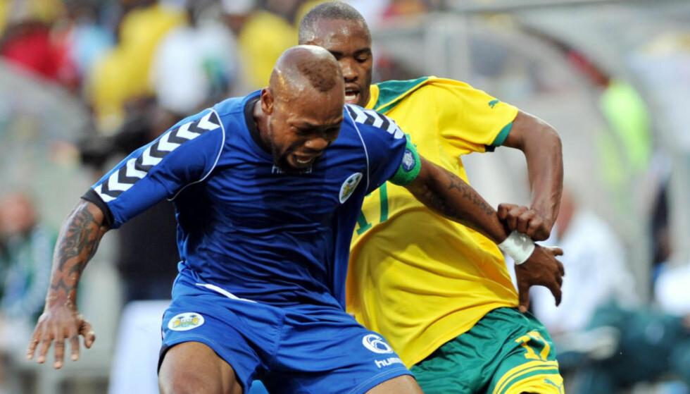UTESTENGT:  Det er denne kampen som skal v'ære fikset. Ibrahim Kargbo (t.v.) er en av spillerne som er utestengt. FOTO: NTB Scanpix