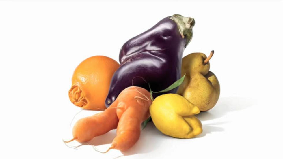 DEFORMERT: Slik ser frukten og grønnsakene den franske supermarkedgiganten Intermarché selger ut. Foto: Intermarché