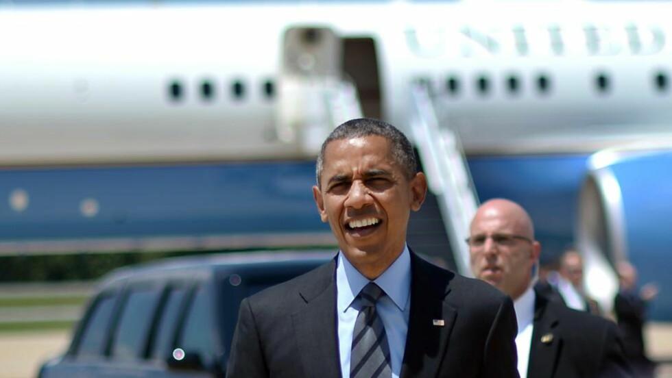 INFORMERT: USAs president, Barack Obama, ble raskt informert om flyet som ble skutt ned i Ukraina. Foto: AFP PHOTO/Jewel Samad