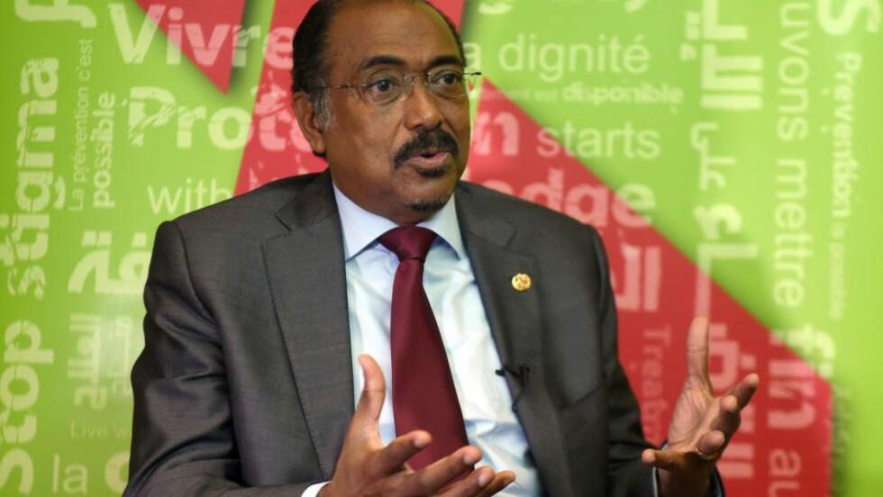 TRAGISK: Sjefen for FN-organisasjonen UNAIDS, Michel Sidibe, skulle møtt flere aidsforskere, som satt på flyet som styrtet. Foto: AFP PHOTO / FETHI BELAID