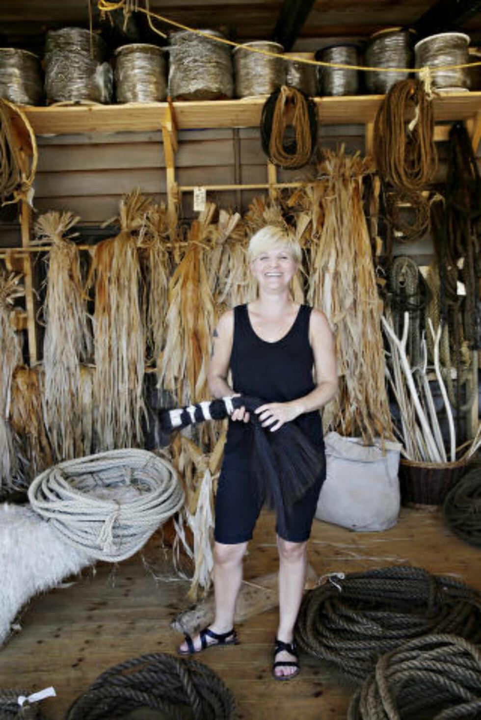 FOODIE: Museumsinspektør Louise Kæmpe Henriksen, kan takke sin matinteresse for at museet når gjør suksess med ny nordisk vikingmat. Foto: KRISTIAN RIDDER-NIELSEN