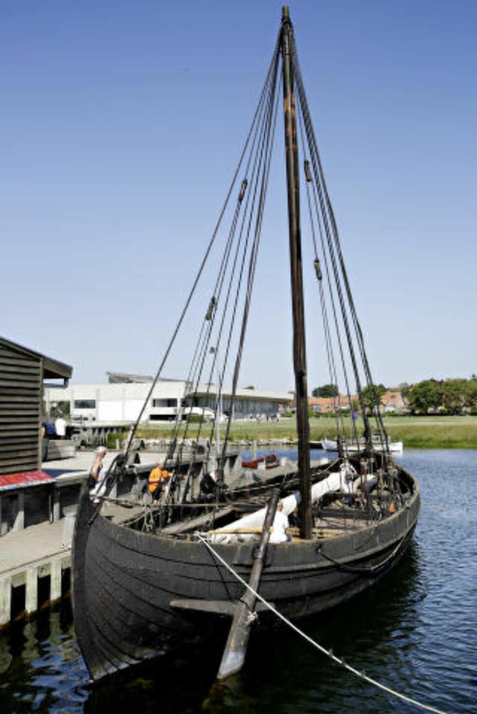 VIKINGTOKT: Hver dag i sommerhalvåret kan du dra på tokt med båter fra vikingskipmuseet i Roskilde. Foto: KRISTIAN RIDDER-NIELSEN