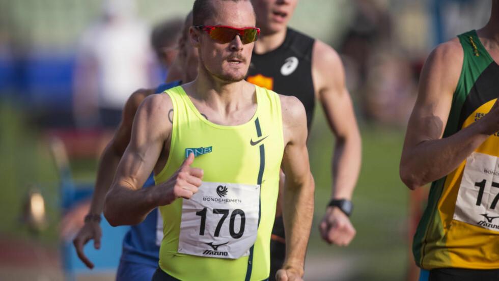 NORSK REKORD: Henrik Ingebrigtsen satte ny norsk rekord under 1500 meteren i Monaco med tida 3.31,46. Foto: Audun Braastad / NTB scanpix