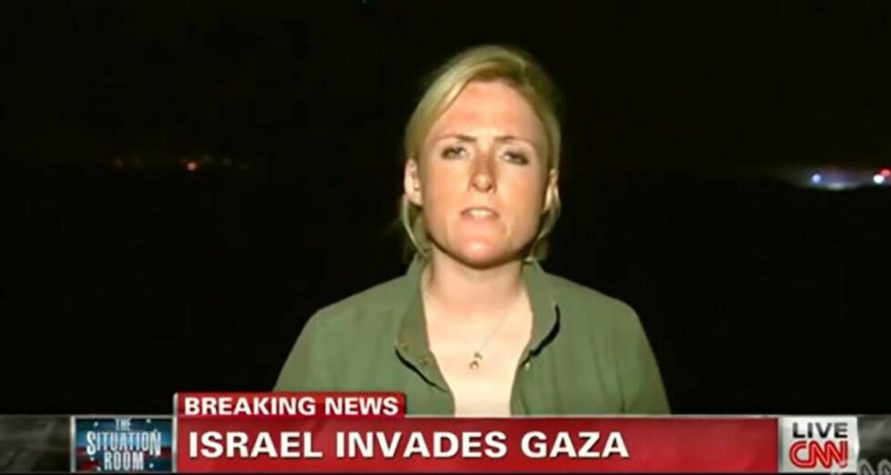 FLYTTET:  Diana Magnay raporterte fra Gaza torsdag kveld. Nå er hun flyttet over til Moskva, etter å ha lagt ut en melding på Twitter. Foto: Youtube