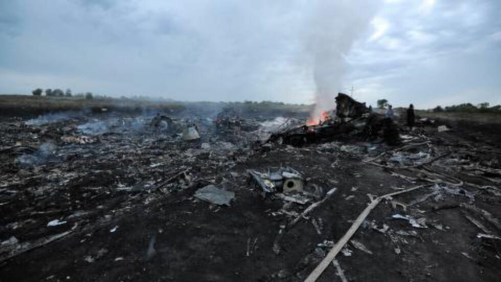 BLE SKUTT NED: Alle om bord omkom da MH17 ble skutt ned over Ukraina 17. juli. Omstendighetene som førte til katastrofen er ennå ikke kjent. Foto: Dominique Faget /  AFP / NTB Scanpix