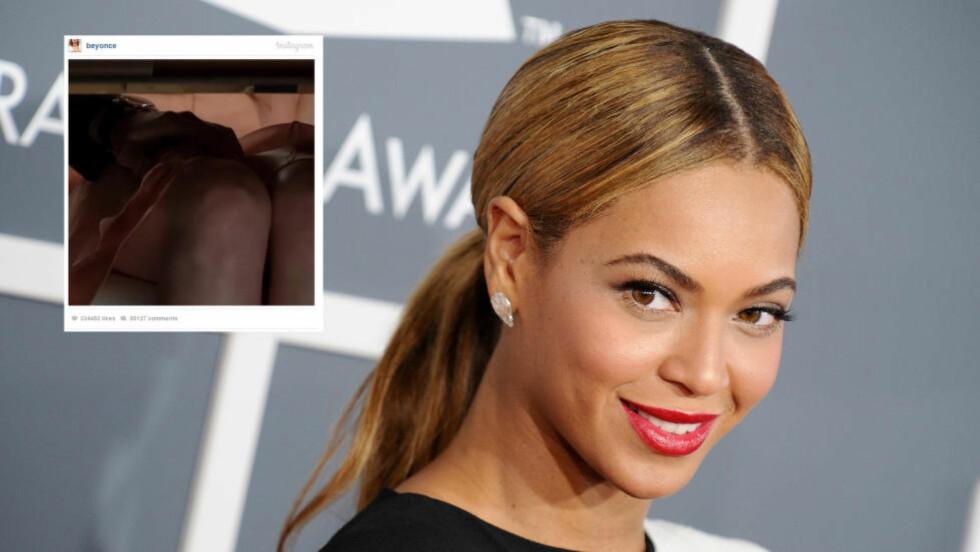 MUSIKK I FILMEN?:  Superstjerna Beyoncé la ut en filmsnutt fra den kommende filmen «Fifty Shades of Grey», og hintet dermed om at hun bidrat til soundtracket i filmen. Foto: Stella Pictures