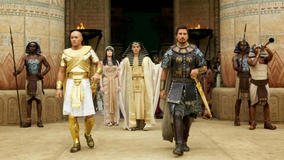 «HVITVASKING»: Hollywood-filmen «Exodus: Gods and Kings», med Christian Bale i rollen som Moses, anklages for rasisme fordi det er europeisk-ættede skuespillere i alle hovedroller, når filmen utspiller seg i Nord-Afrika. Foto: 20th Century Fox