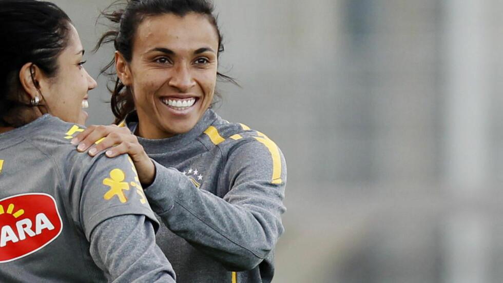 BYTTER KLUBB: Marta har skrevet under for svenske FC Rosengård. Foto: Erlend Aas / Scanpix .