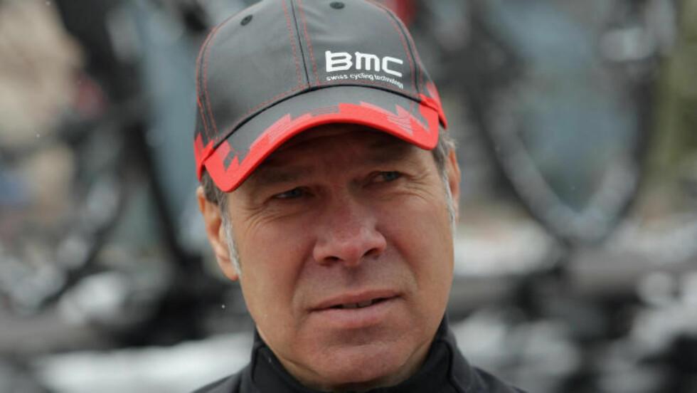 HØYE FORVENTNINGER: Jim Ochowicz i BMC Racing innrømmer laget hadde større forventninger til Thor Hushovd. Foto: Doug Pensinger/Getty Images/AFP