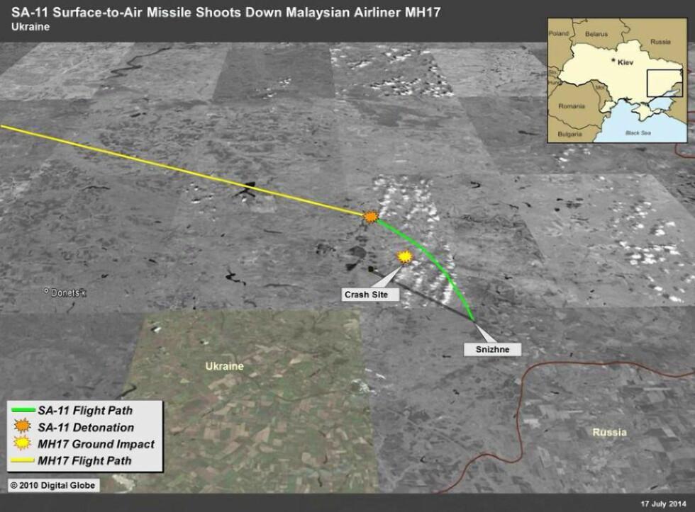 Amerikanerne: Slik skal missilen ha blitt skutt opp fra ukrainsk landsby