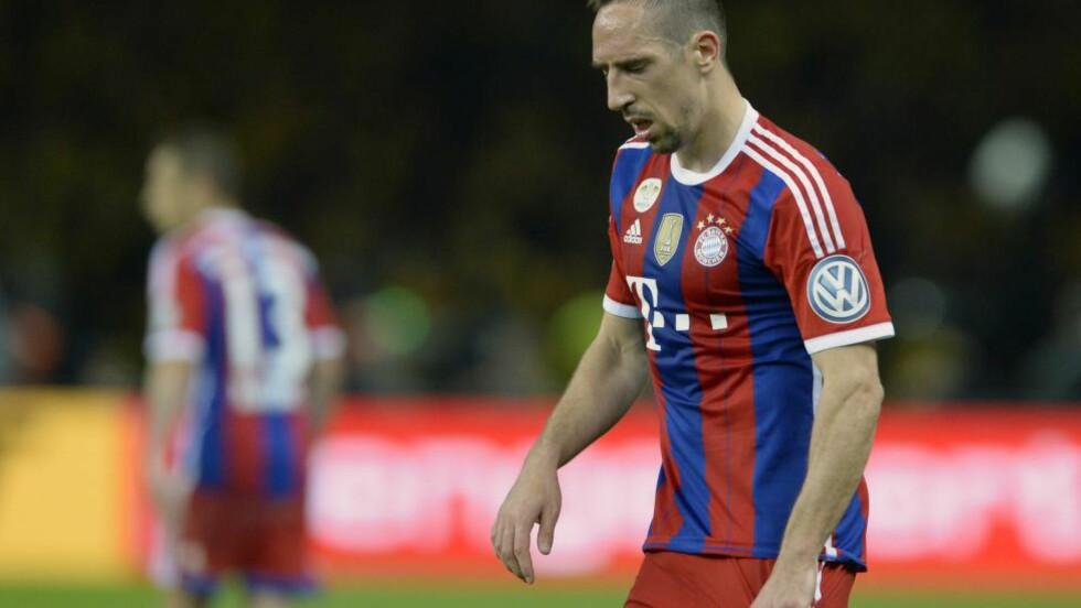 TILBAKE: Bayerns Franck Ribery er tilbake fra ryggskaden. Foto: AFP PHOTO / CHRISTOF STACHE