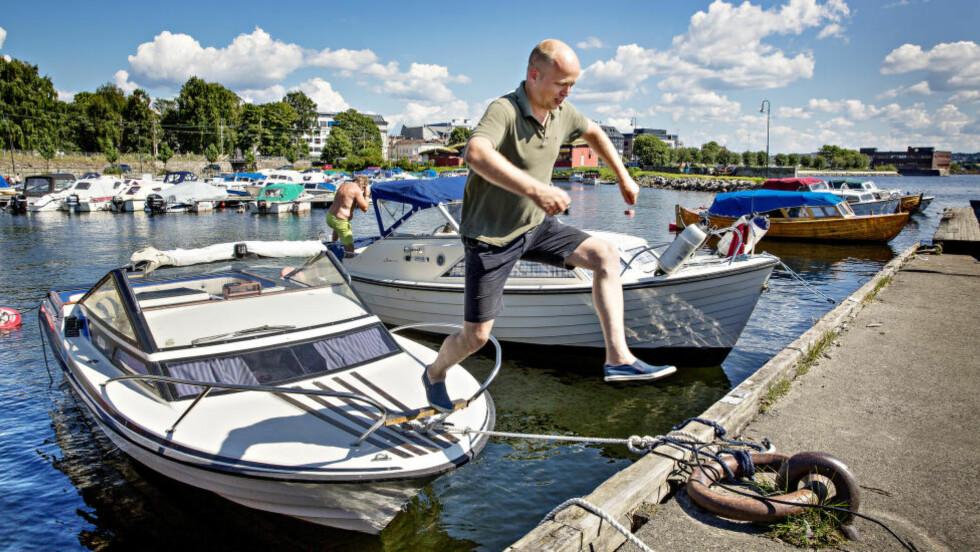 FÅR STØTTE: Sp-leder Trygve Magnus Slagsvold Vedum argumenterer i dag for hvorfor SV og Ap's skepsis mot mer fornøyelseskjøring med snøskuter i utmark er paradoksal. SVs eget ungdomsparti støtter ham.  Foto: Lars Eivind Bones / Dagbladet