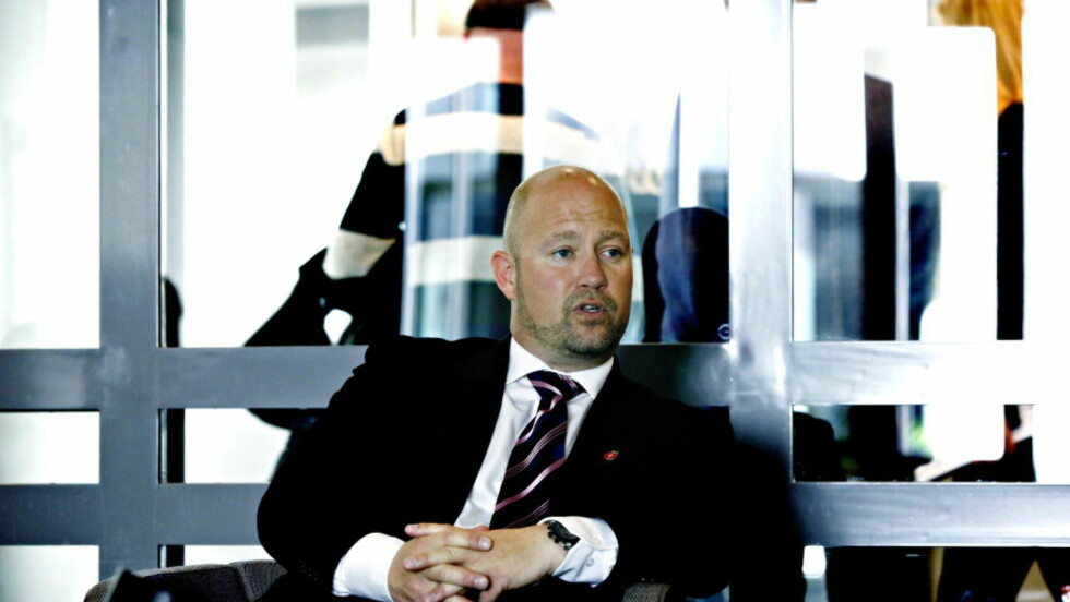MULIG KONKRET TRUSSEL: Justisminister Anders Anundsen innkaller til pressekonferanse med politiet og PST for å informere om en muligkonkret trussel.  Foto: Jacques Hvistendahl / Dagbladet