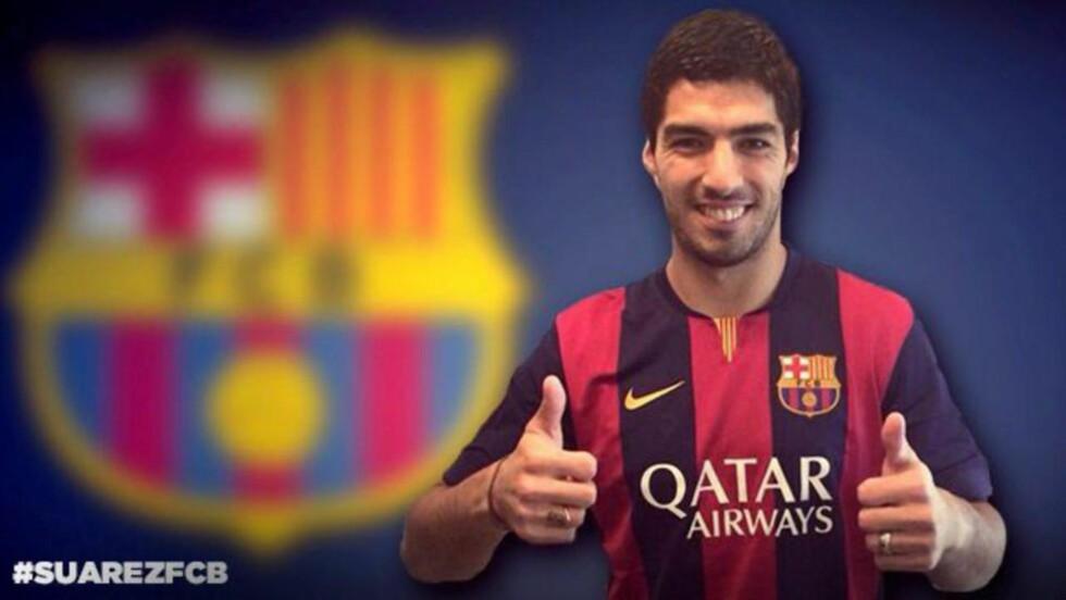 CLÁSICO-KLAR: Luis Suárez vil ha sonet ferdig sin straff den 26. oktober. Samme dag spilles El Clásico mellom Barcelona og Real Madrid. Foto: EPA/FC BARCELONA/NTB SCANPIX