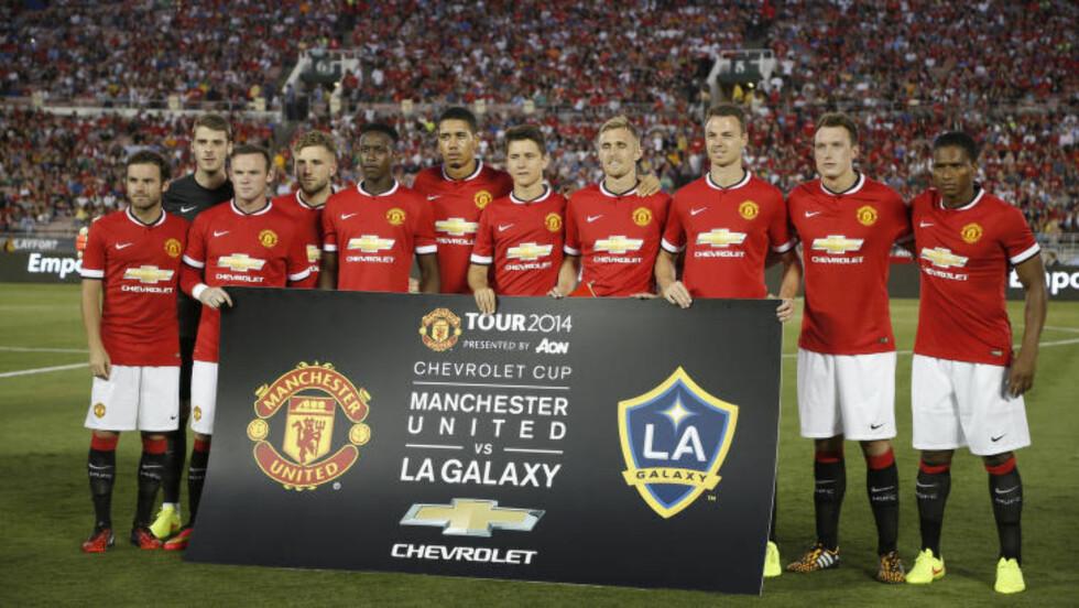 86 000: 86 000 tilskuere så Manchester United spille mot Los Angeles Galaxy i California 23. juli. Foto: REUTERS/Lucy Nicholson