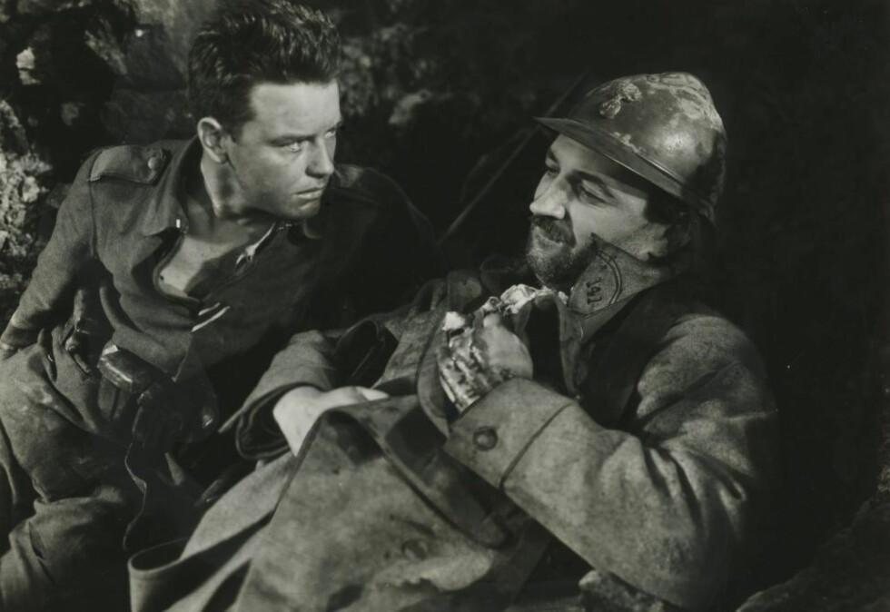 FILMATISERT: Erich Maria Remarques roman ble første gang filmatisert i svart/hvitt i 1930. Både boka og filmen ble enorme suksesser.