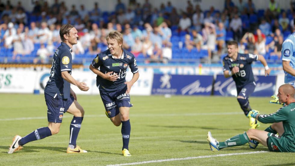 FÅR SKRYT: Martin Ødegaard imponerte stort mot Sandnes Ulf i går. Foto: Jan Kåre Ness / NTB scanpix