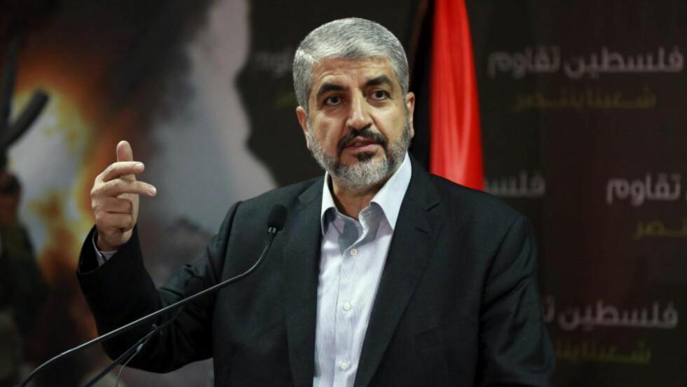 SAMEKSISTENS:  Hamas-leder Khaled Meshaal sier det ikke er mulig for hans folk å sameksistere med Israel så lenge israelerne okkuperer palestinsk jord. Foto: Reuters/ NTB scanpix.