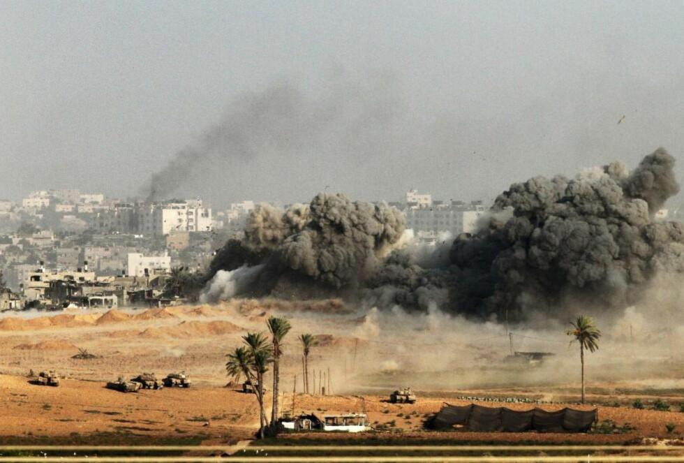 IKKE FORSVAR:  En rask gjennomgang av den pågående krigens forhistorie viser at Israel ikke forsvarer seg. Foto: AFP/NTB Scanpix