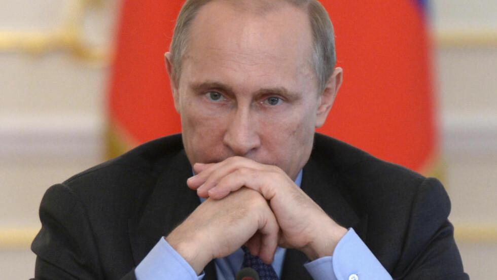 TRUER MED FLYFOBUD: Russlands president Vladimir Putin. REUTERS/Alexei Nikolskyi/RIA Novosti/Kremlin