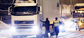 Utenlandske vogntog skylder 200 millioner i avgifter og bøter