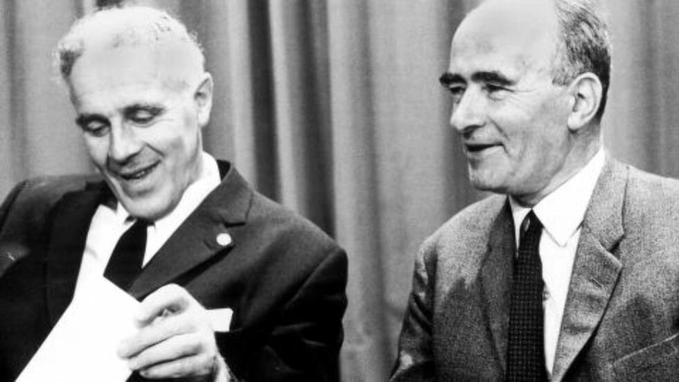 MÅTTE GÅ: EF-kampen på 70-tallet kostet både Per Borten (t.v.) og Trygve Bratteli (t.h.) statsministerjobben. Foto: Scanpix
