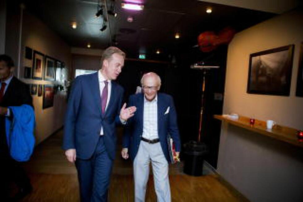 Høyretopper: Utenriksminister Børge Brende (H) og Kåre Willoch Foto: Christian Roth Christensen / Dagbladet