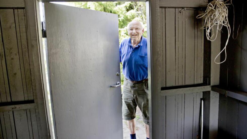 JOBBET MED «GRATSJOV»: Han var nok en farlig mann. Det er rart å tenke på at minkfarmen min endte opp i en så stor sak. Og at denne historien til slutt ble skrevet ned i et KGB-arkiv, sier Jørgen Pedersen. Foto: KRISTIAN RIDDER-NIELSEN/DAGBLADET