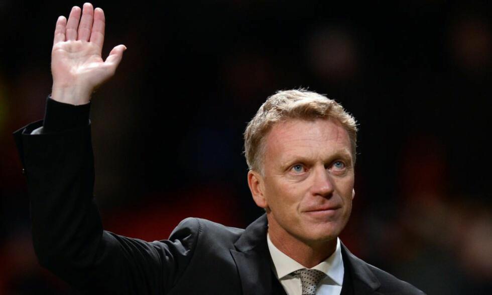YDMYKET: Det var media som fortalte David Moyes at han hadde fått sparken som United-manager. Foto: ANDREW YATES/AFP/Scanpix