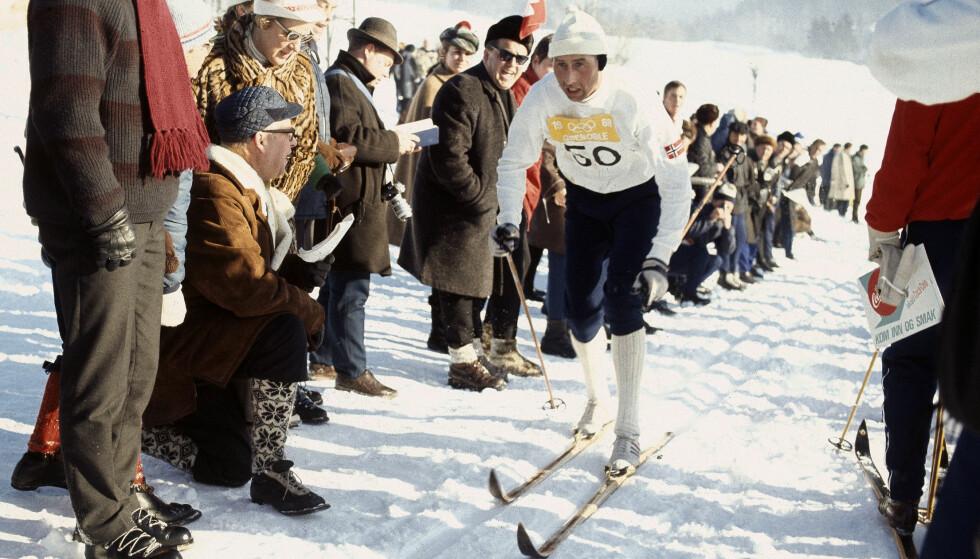 OL-GULL: Harald Grønningen ble sett på som et forbilde blant de yngre løperne, og var en langrennsløper som hadde en tendens til å gjøre det aller best i de viktigste løpene.  Foto: NTB Scanpix