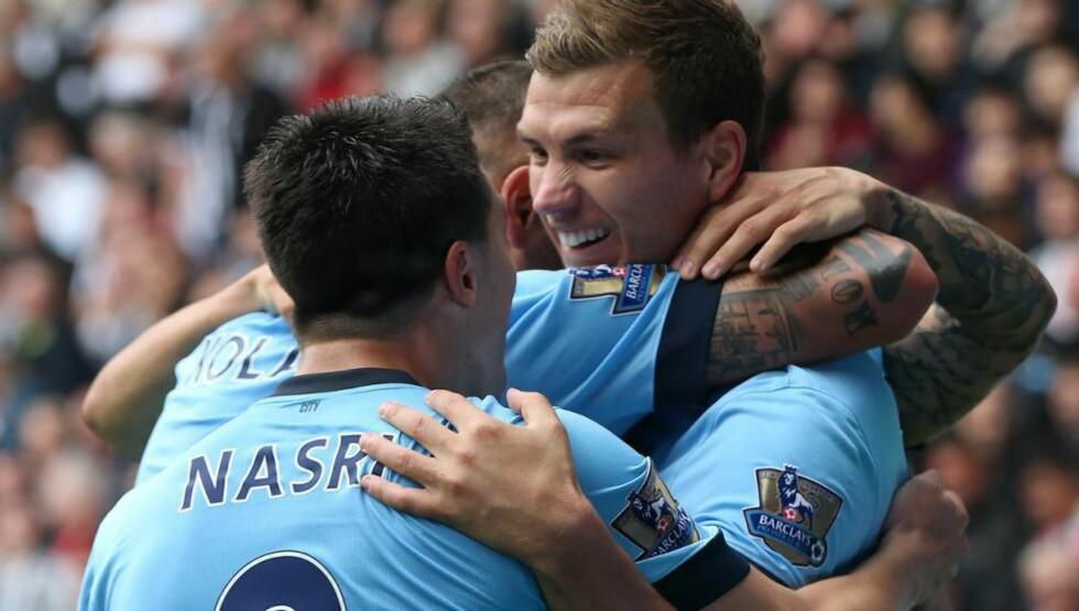 LAGSEIER: Manchester City gjorde ikke mer enn de måtte borte mot Newcastle. Foto: NTB Scanpix