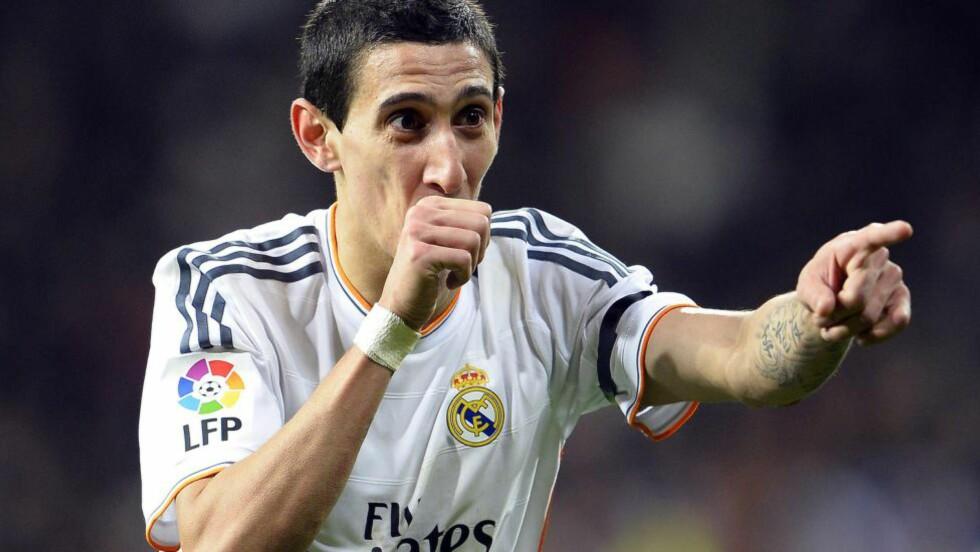 LØS LOMMEBOK: Manchester United skal være klare til å bruke over én milliard kroner på Real Madrids Angel di Maria. Foto: AFP PHOTO / GERARD JULIEN / NTB Scanpix