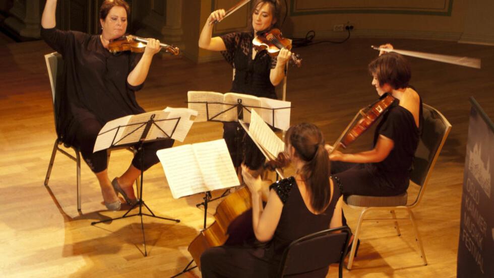 FLOTT AVSLUTNING:  Vertavokvartetten i Gamle Logen. Foto: Kristin Bolstad