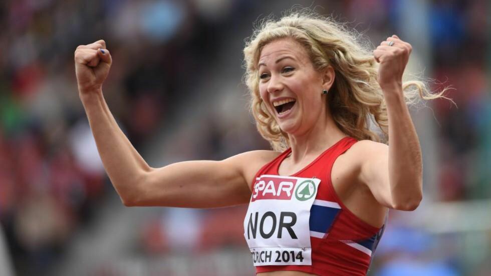 VALGT: Hekkeløperen Isabelle Pedersen er valgt inn i utøverkommisjonen til Det europeiske friidrettsforbundet (EA). Foto: AFP PHOTO / OLIVIER MORIN / NTB Scanpix