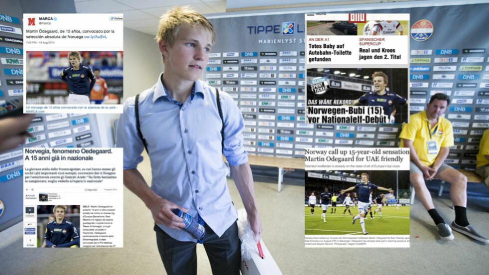 HYLLES:  Medier over hele verden har skrevet om Martin Ødegaard (15) det siste døgnet. Foto: Scanpix.