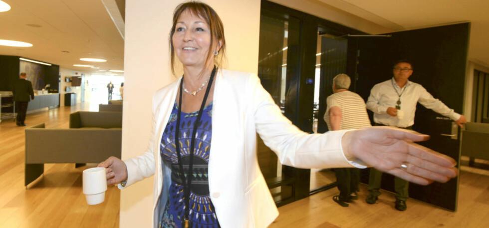 NYE FORHANDLINGER? KS-styreleder Gunn Marit Helgesen sier de har fått partene tilbake til forhandlingsbordet. Foto: Vidar Ruud / NTB scanpix