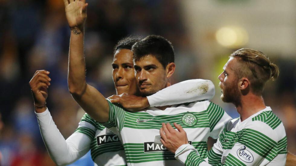 STARTER:  Jo Inge Berget (t.h.) får starte for Celtic i bortemøtet med NK Maribor i kveld. Foto: AP Photo/PA, Danny Lawson