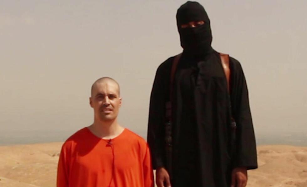 EKTE: Det hvite hus bekrefter i kveld at vidoen viser henrettelsen av den amerikanske journalisten James Foley er ekte. Foto: Skjermdump