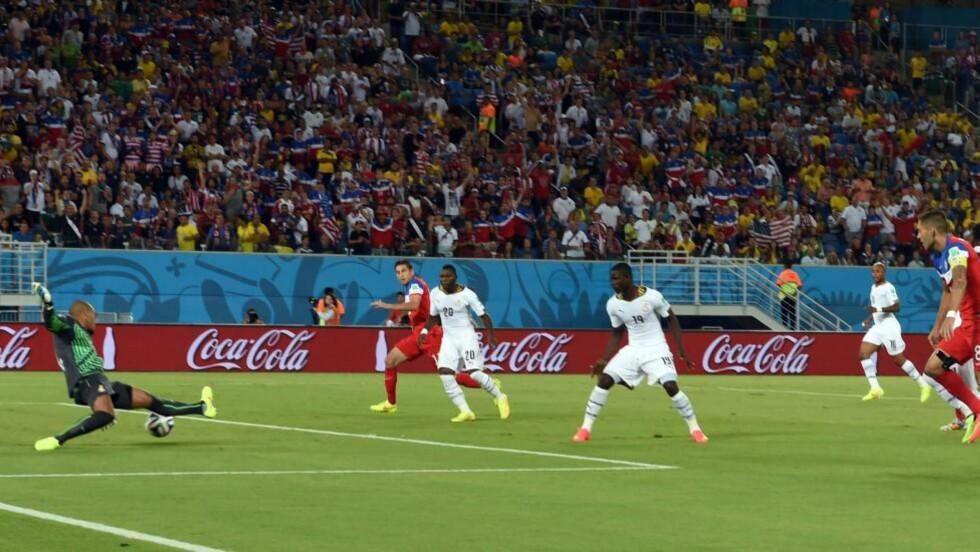 VRAKET: Adam Larsen Kwarasey er vraket av Ghana. Her i aksjon mot USA i sommerens VM. Foto: AFP PHOTO / CARL DE SOUZA