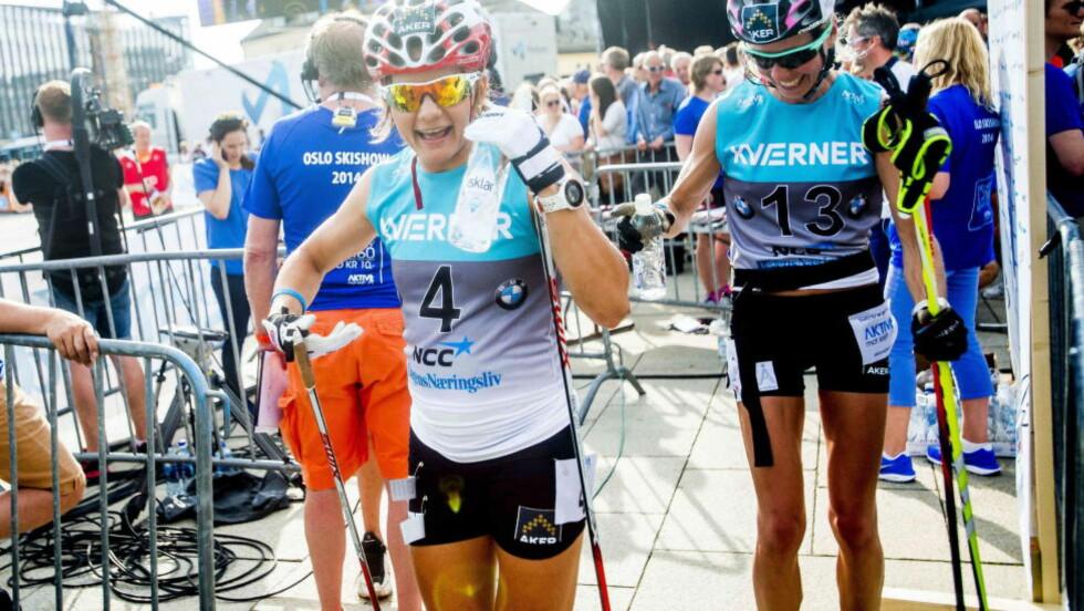 BEST: Maiken Caspersen Falla var best i rulleskisprinten på Hamar. Her fra Oslo Skishow i sommer. Foto: Thomas Rasmus Skaug / Dagbladet