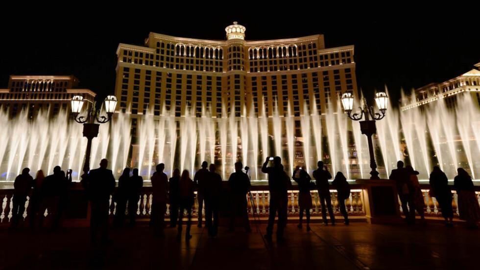 WHAT HAPPENS IN VEGAS ... Ja, bortsett fra homofilt bryllup da, for det er ikke tillatt i staten Nevada. Derfor tar turistmyndighetene i Las Vegas nå grep. Foto: AFP / NTB Scanpix