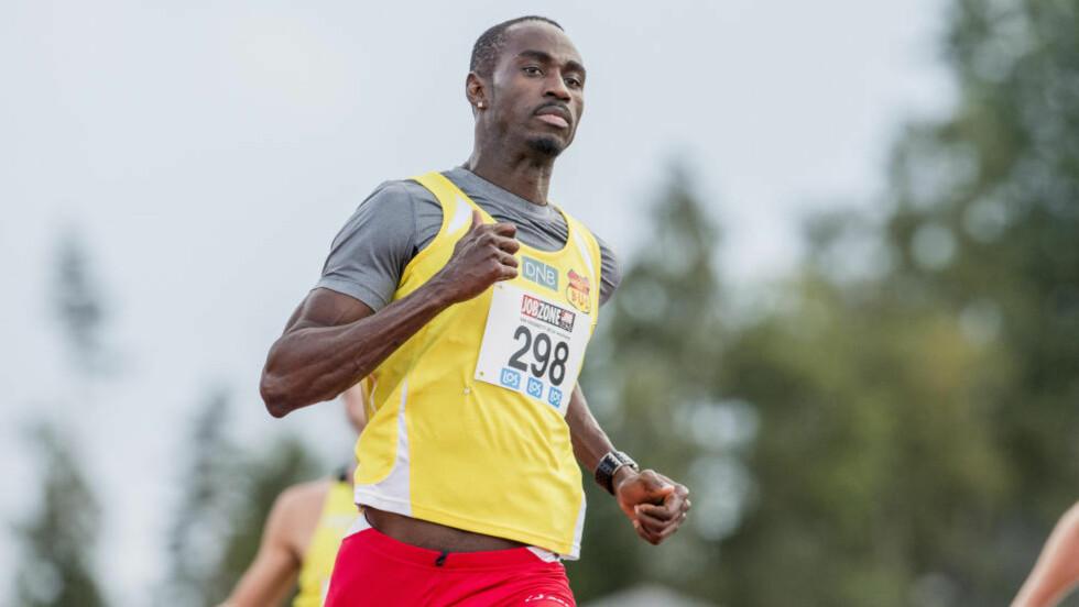 FERDIG: Jaysuma Saidy Ndure vant 100m for menn under friidretts NM på Jessheim i dag, og avslutter nå sesongen.  Foto: Stian Lysberg Solum / NTB Scanpix