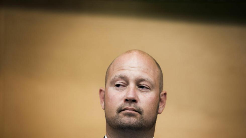 IKKE STØTTE FRA UNGDOMSPARTIET:  Justis- og beredskapsminister Anders Anundsen må klare seg uten støtte fra FpU i spørsmålet om utvidet datalagring. Foto: Berit Roald, NTB Scanpix.