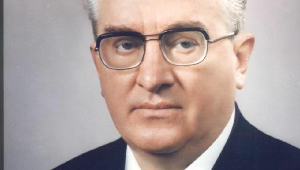 KGBS MEKTIGE SJEF: Jurij Vladimirovitsj Andropov var KGB-sjef 1967-1982. Siden ble han leder for Sovjetunionen.   Foto: NOVOSTI