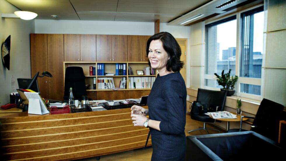 ØVERSTE ANSVARLIG: Barne- og familieminister, Solveig Horne vil ikke si hva hun mener om partifellens ytringer, eller om hun er enig med likestillingsombudet sitt. Foto: Nina Hansen / Dagbladet.