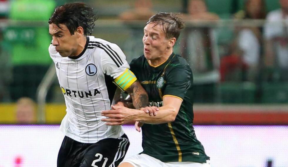 STARTER: Stefan Johansen starter for Celtic mot Maribor. Foto:   EPA/LESZEK SZYMANSKI POLAND OUT