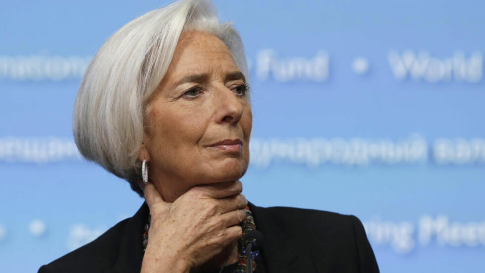 BESKYLDES: Christine Lagarde. Foto: REUTERS / Gary Cameron / NTB scanpix