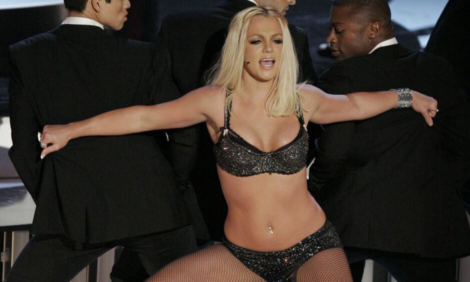 STEMPLET SOM FIASKO: Alt gikk galt da Britney Spears skulle framføre sin nye låt under MTV Video Music Awards i 2007. Foto: Mark J. Terrill / AP / NTB Scanpix